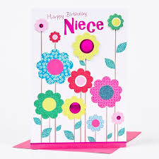 birthday cards for niece birthday card niece colourful flowers only 79p
