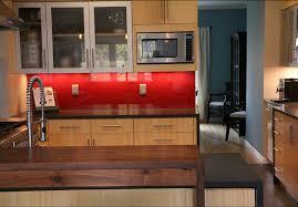 Bamboo Bar Top Contemporary Kitchen Remodel Michaud Enterprises Llc