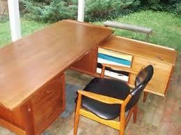 rare arne vodder danish modern vintage teak desk with credenza