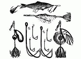 vintage fishing lures and hooks clip art from the late 1800 u0027s