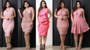 Junior Plus Size Clothing Websites Plus Size Curvy Pink Party Dresses Vestidos Rosa Para Gorditas