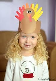 thanksgiving craft handprint turkey crown the suburban