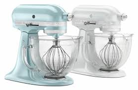5 Quart Kitchenaid Mixer by Kitchenaid 5 Qt Artisan Design Series With Glass Bowl Azure