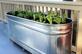 galvanized trough planters galvanized steel garden beds trough