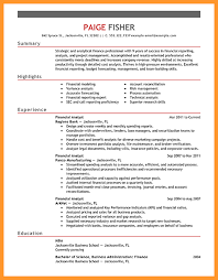 Financial Analyst Resume Examples by 10 Financial Analyst Resume Buisness Letter Forms