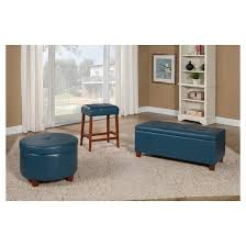 Large Storage Bench Homepop Large Faux Leather Storage Bench Homepop Target