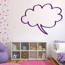 simple wall designs cloud shape speech bubble wall sticker decorative children bedroom