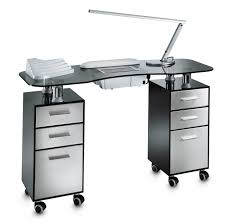 manicure tables with ventilation glass double vented manicure table tempered gray fantasy glass