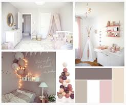 deco chambre fille moodboard décoration chambre babygirl mamzell plume