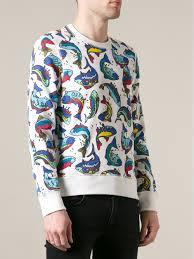 fish sweater lyst kenzo fish print sweatshirt in blue for