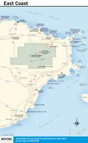 Map Of The East Coast Of Usa by Maps Of Puerto Rico Free Printable Travel Maps From Moon Guides