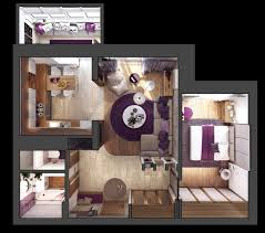 Home Design 3d Living Room by Home Designs 3d Floor Plan For Medium Sized Apartment 3 One
