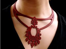 leather bib necklace images Batucada eco plastic oriental necklace ecouterre jpg