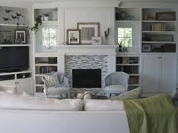 our living room shelving built ins and fireplace redo