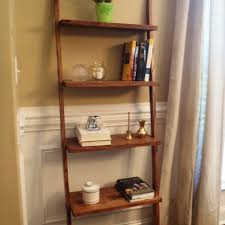 Walnut Wainscoting Amusing Ladder Bookshelf Design Ideas Come With Solid Wood