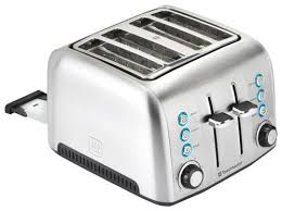 toastmaster 4 slice extra wide slot toaster silver tm 43ts best buy
