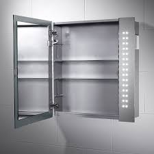 Bathroom Mirror Cabinets With Light And Shaver Socket Rowan Led Illuminated Bathroom Cabinet Mirror With Lights Sensor
