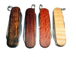 personalized swiss army knife made wooden keychain knives swiss army by wood recycled