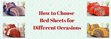 Choosing Bed Sheets by Home Furnishings Buy Bedsheets Quilts Cushion Covers Jaipur Fabric