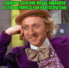 Medal Meme - creepy condescending wonka meme imgflip