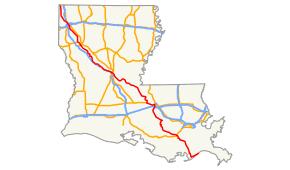 map louisiana highways interstates louisiana highway 1