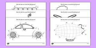 transport dot to dot activity sheet pack activity game fun