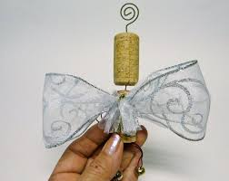 recycled wine cork ornament bowdabra