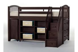 Desk Storage Drawers Full Size Loft Bed With Desk And Storage Brown Wooden Laminated