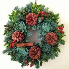 christmas wreath workshop at flower temple
