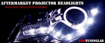 aftermarket eye halo led projector headlights hid by