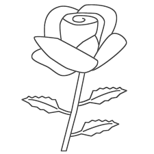 free coloring pages of a red color rose 10303 bestofcoloring com
