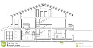 blueprint of houses modern american house facade section stock images image 37050114