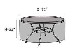 Covermates Patio Furniture Covers by Covermates â U20ac U201c Outdoor Patio Round Dining Table Cover 72diameter X