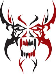 tribal skull tattoos free png transparent image and clipart