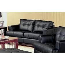 Plush Leather Sofas by Coaster Samuel Bonded Leather Sofa Multiple Colors Walmart Com