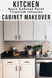 how to paint kitchen cabinets nuvo kitchen cabinet makeover with nuvo cabinet paint moments