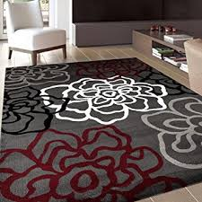 grey and red area rugs collection