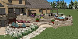 Patio Design Pictures Curvy Terraced Patio Design Creates Fabulous Outdoor Living Space