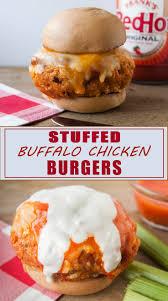 Buffalo Chicken Stuffed Buffalo Chicken Burgers Seasoned Sprinkles Seasoned