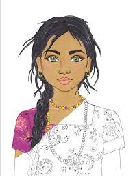fashion coloring page fashion coloring page india coloring page indian