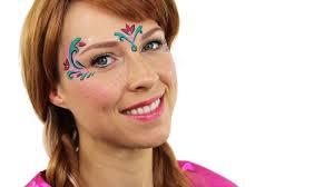 anna frozen makeup tutorial frozen face paint youtube