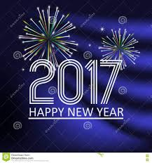 happy new year 2017 on blue navy abstract color background with
