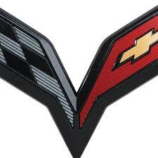 Crossed Flag Pins C7 Corvette Stingray Gm Crossed Flags Emblem Carbon Flash Free