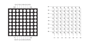 Led Blinking Circuit Diagram Interfacing 8x8 Led Matrix With Arduino Circuit Diagram Code