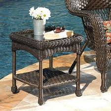 Savannah Outdoor Furniture by Savannah Brown Wicker Side Table Products Brown And Tables