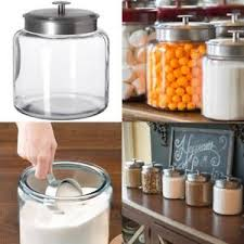 clear kitchen canisters glass kitchen canisters ebay