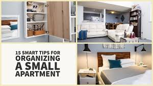 15 smart tips for organizing a small apartment design youtube