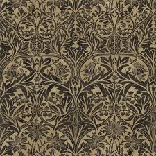William Morris Wallpaper by William Morris Bluebell Fabric In Black Manilla