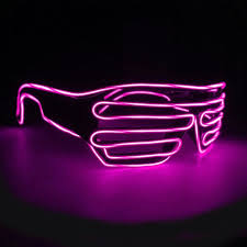 party sunglasses with lights 10pcs flashing el wire sunglasses light up party sunglasses luminous