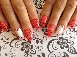eye candy nails u0026 training acrylic nails with orange gelish gel